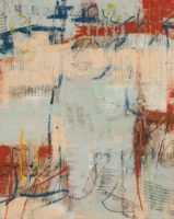 Diane Bowie Zaitlin, Archives, 2015, mixed media encaustic, 30x24in.