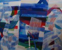 Kayla Mohammadi, The Door, 4'x 5', 2015, acrylic and oil on canvas