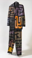 """Katharine Whild, """"African Dream,"""" 2016, suit, acrylic paint, 68 x 25 x 4"""""""