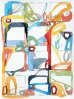 "Mattina Blue, Prayer for Archipelago, 2016, watercolor, 9x12"""