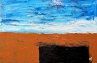 Greg Burns, Untitled Abstract #8 (Beach House), 2016, Oil on Canvas, 50 x 70 cm