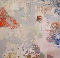 "Rhonda Smith, Peninsulate, oil on panel, 2011, 48 X 48"""