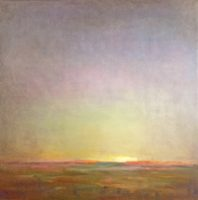Julie Houck, Morning At Thomas Point, oil on linen, 40 x40""