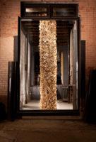 """Ian Trask, """"Holon,"""" 2012, cardboard, 3 x 3 x 14'"""