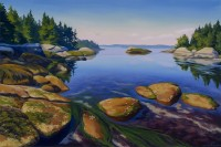 "Wendy Newcomb, ""As the Tide Turns,"" oil, 24 x 36"""