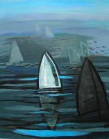 "Alan Fishman, ""Mirage 2,"" acrylic on canvas"
