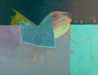 """David Estey, Night Swim, 2015, acrylic, 18"""" X 24"""""""