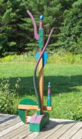 Bernice Massé Rosenthal. American Gothic #1; Painted wood assemblage; 69 x 22 x 22 inches.