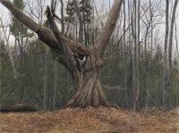 "Wedding Tree, egg tempera, 36 x 48"""