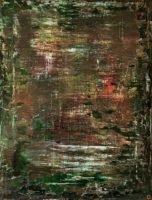 "Duncan McKnight, ""Taiga,"" 2016, acrylic, oil, gloss medium, 20 x 16"""