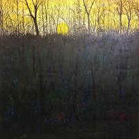 "Chris Polson, Lincolnville Yellow, 72"" x 72"", oil on linen, 1998"