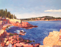Acadia Coast, September 2016, Oil Painting 16 x 20