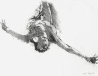 """David Estey, Icarus, 2005, charcoal & graphite, 19"""" X 24"""""""