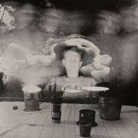 """Claire Seidl, """"Peter and Friends,"""" 2016, silver gelatin photograph, 20 x 16"""""""
