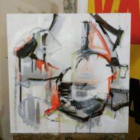 Matt Demers, Human Being, 2016, mixed media, 2'x2'