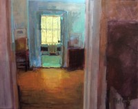 "Pamela Hetherly, ""Green Bath,"" 2015, oil, 16 x 20"""