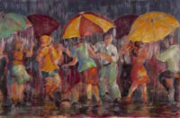 Susan Tobey White, Dance Series: Dancing in the Rain #5  Acrylic