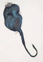 """Lori Schafer, Floating Beet, 1998, mixed media on paper, 42 x 32"""""""