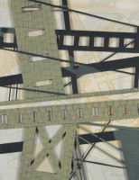 "Chris Beneman, ""High Line Construction,"" 18 x 14"""
