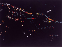 "Yvonne Jacquette, ""Galaxy of Night Lights,"" 2008. Oil on canvas, 33 x 44 inches. Courtesy of DC Moore Gallery, New York."