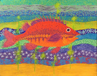 McKinney, Red Fish, 2015, 12x9