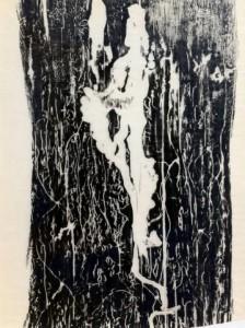 "Jeff Woodbury, ""beetlerunes group of 12,"" 2013, gravestone rubbing wax on paper, 12 x 9 in."