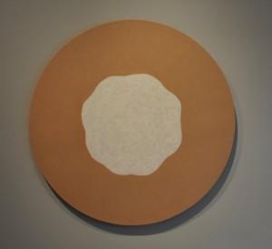"""Scott Davis, """"Sojourner,"""" 2014, acrylic on linen, 48 in. diameter"""