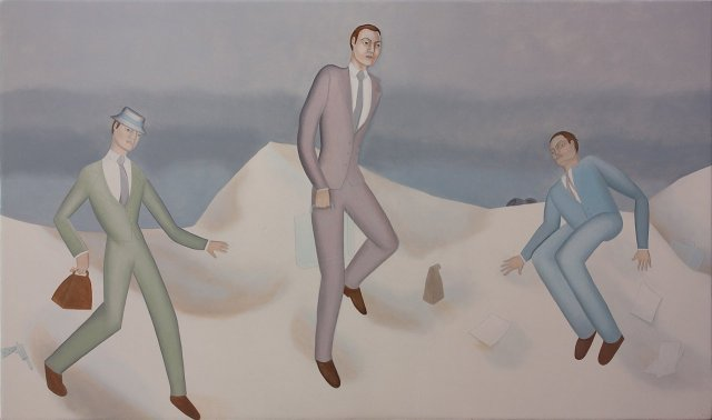 Businessmen in the Snow